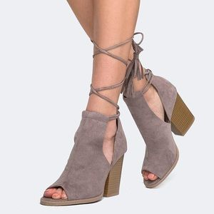 NWT lace-up block heeled sandals from J. Adams